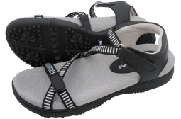 Sandbaggers Ladies Golf Sandals - GALIA Black