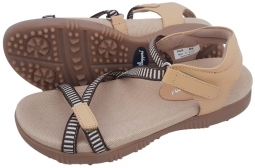 Sandbaggers Ladies Golf Sandals - Galia Tan