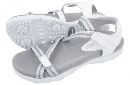 Sandbaggers Ladies Golf Sandals - GALIA White