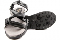 Sandbaggers Ladies Golf Sandals - Grace Black