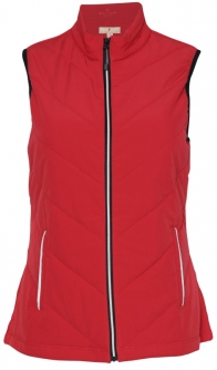 Sport Haley Ladies & Plus Size Valentina Full Zip Quilted Golf Vests - XOXO (Cherry)