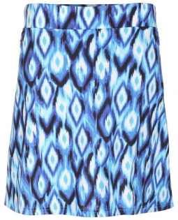 "Sport Haley Ladies Lala 18"" Pull On Print Golf Skorts - BOOMERANG (Aquamarine)"