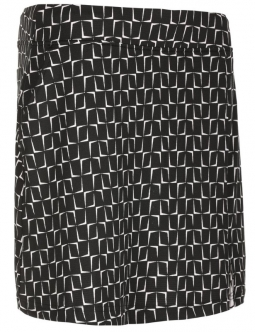 "Sport Haley Ladies Block 18"" Pull On Print Golf Skorts - DOUBLE TAKE (Black)"