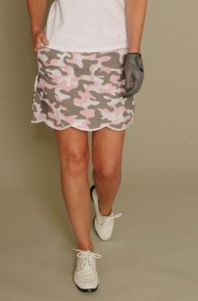 "Golftini Ladies 17.5"" or 19"" Incognito Stretch Cotton Golf Skorts - Camo Pink Print"
