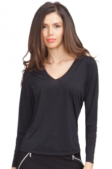 71f1be3469e12 Jamie Sadock Ladies   Plus Size Long Sleeve Sunsense Golf Shirts - Jet ...