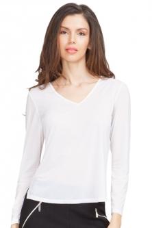 184d35df57952 Jamie Sadock Ladies   Plus Size Long Sleeve Sunsense Golf Shirts - Sugar ...