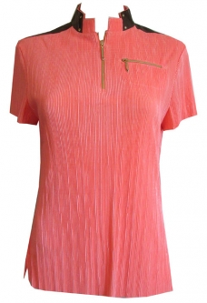625dac9c2b28b CLEARANCE Jamie Sadock Ladies Short Sleeve Golf Shirt - Equestrian  (Radiance)