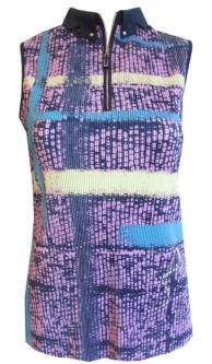 31c2f259f9a3a CLEARANCE Jamie Sadock Ladies Sleeveless Golf Shirts - Moonlit (Frozen  Lilac)