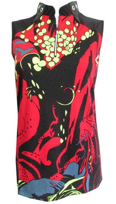 13bf3fc42daf65 Lori s Golf Shoppe  Jamie Sadock Women s Plus Size Octopus Sleeveless Golf  Shirts - Joy Ride (Black   Red)