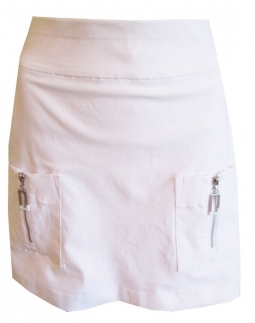 6a5864e371424 Jamie Sadock Ladies Skinnylicious Pull On Golf Skorts - Moonlit  (Sugar White)