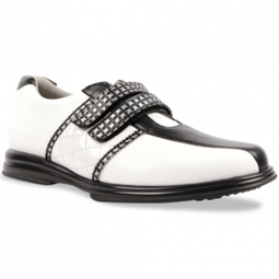 Sandbaggers Ladies Golf Shoes - KRYSTAL Black Strap