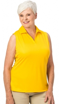 Nancy Lopez Ladies & Plus Size LUSTER Sleeveless Golf Polo Shirts - Assorted Colors