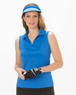 Nancy Lopez Ladies & Plus Size Sleeveless Golf Shirts (Luster) - Assorted Colors