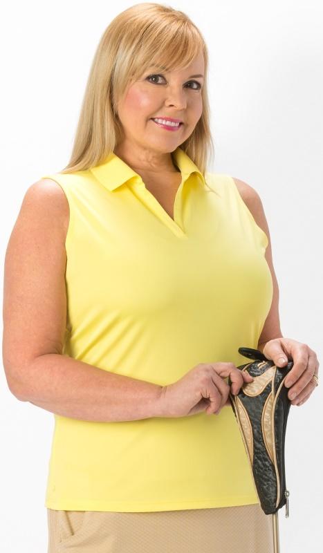 Ladies Sleeveless Golf Polo Shirts Womens Plus Size Polos