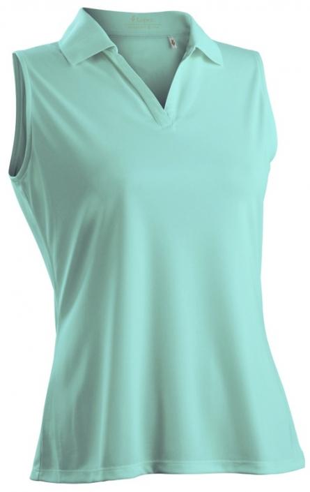 b526611a Nancy Lopez Women's Plus Size Sleeveless Golf Shirts (Luster) - Aqua & Palm