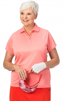 Nancy Lopez Ladies & Plus Size LUSTER Short Sleeve Golf Polo Shirts - Assorted Colors