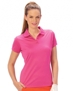 Nancy Lopez Ladies & Plus Size Short Sleeve Golf Shirts (Luster) - Assorted Colors