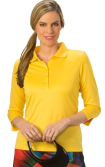Nancy Lopez Ladies & Plus Size 3/4 Sleeve Golf Shirts (Luster) - Assorted Colors