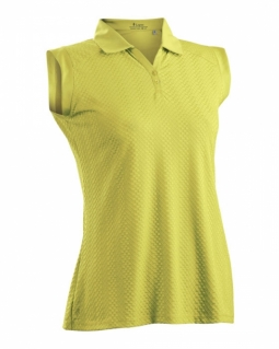 CLEARANCE Nancy Lopez Women's Sleeveless Golf Polo Shirts - Grace (Lemon & Passion)