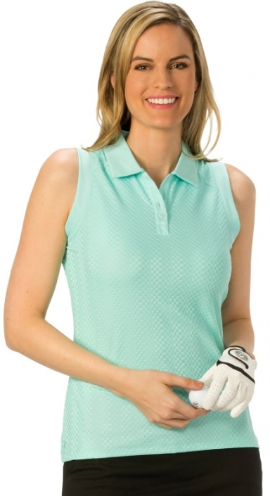 c5fe1d395151ca SALE Nancy Lopez Sleeveless Women s Plus Size Golf Shirts - Grace (Aqua)