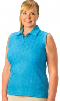 Nancy Lopez Ladies & Plus Size Sleeveless Golf Polo Shirts - Grace (Assorted Colors)