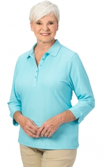 Nancy Lopez Ladies & Plus Size GRACE 3/4 Sleeve Golf Polo Shirts - Assorted Colors