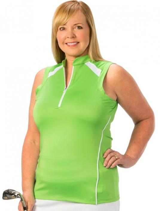 Womens Sleeveless Golf Top Womens Plus Size Golf Shirt