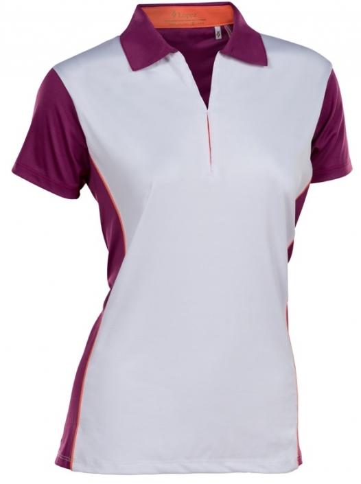 7e66798c94f65 Lori s Golf Shoppe  SALE Nancy Lopez Women s Plus Size Bee Short Sleeve  Golf Polo Shirts - Dark Magenta   Indigo Multi