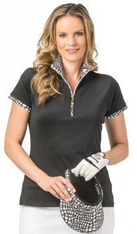 Nancy Lopez Ladies & Plus Size WILD Short Sleeve Golf Polo Shirts - Assorted Colors