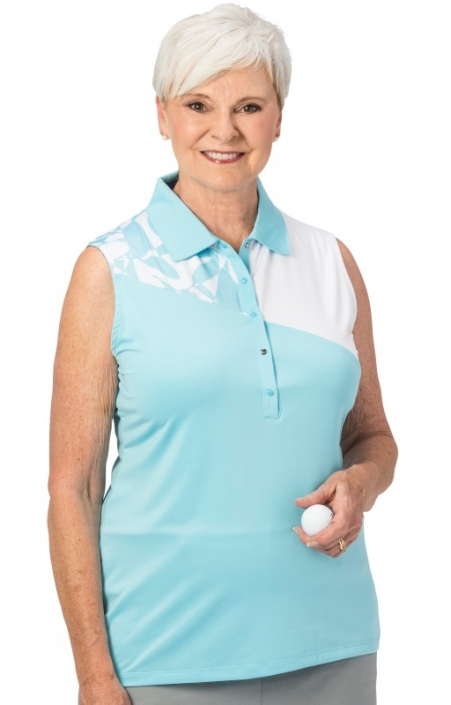 463630c1a76683 Nancy Lopez Ladies   Plus Size SPLICE Sleeveless Golf Polo Shirts -  Assorted Colors
