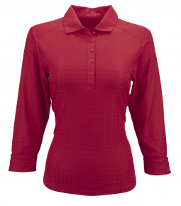 Nancy Lopez Ladies & Plus Size JOURNEY ¾ Sleeve Golf Polo Shirts - ESSENTIALS (Assorted Colors)
