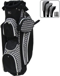 "RJ Sports Ladies LB-960 9"" Golf Cart Bags - Houndstooth"