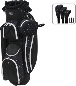 "RJ Sports Ladies LB-960 9"" Golf Cart Bags - Polk A Dot"