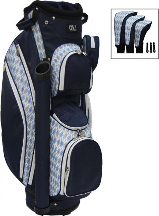 Rj Sports Las Lb 960 9 Golf Cart Bags Navy Argyle