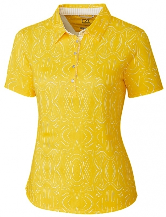 0b443440 Lori's Golf Shoppe: Cutter & Buck Ladies & Plus Size Allegra Short Sleeve  Printed Golf Polo Shirts - Assorted Colors