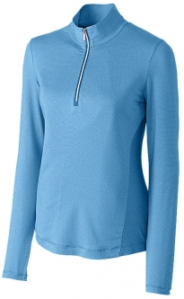 Cutter & Buck Ladies & Plus Size Madeline Long Sleeve Half Zip Mock Golf Shirts - Assorted Colors