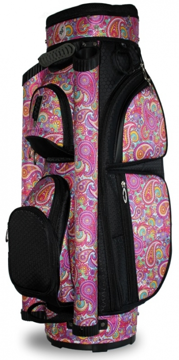 LGS Ladies Golf Cart Bags - Pink Paisley