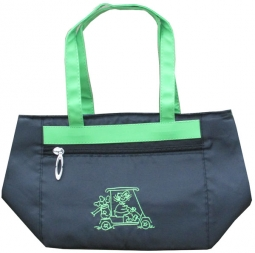 LGS Ladies Golf Cooler Totes - Golf Gals (Black w/ Green Trim)