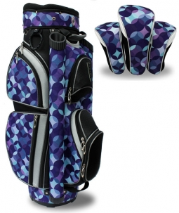 LGS Ladies Golf Cart Bags (Includes 3 Pkg. Headcovers) - Purple Circles