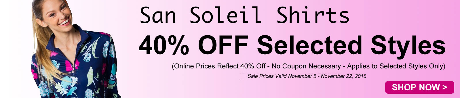 Ladies & Plus Size San Soleil Specials