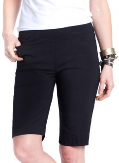 SlimSation Ladies & Plus Size  Pull On Golf Shorts - Basic Black