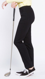 "SlimSation Ladies Narrow 31"" Inseam Pull On Golf Pants - Black"