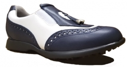 Sandbaggers Ladies Golf Shoes - MADISON II Navy/White