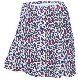 c3f4a4a40ed Monterey Club Ladies   PlusSize Mini Leopard Pull On Golf Skorts- White Mulberry