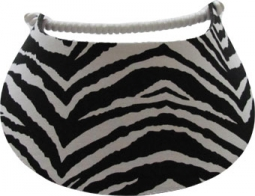 Miracle Lace Ladies Golf Visors (W/Twist Cord) - Zebra (Black/White)