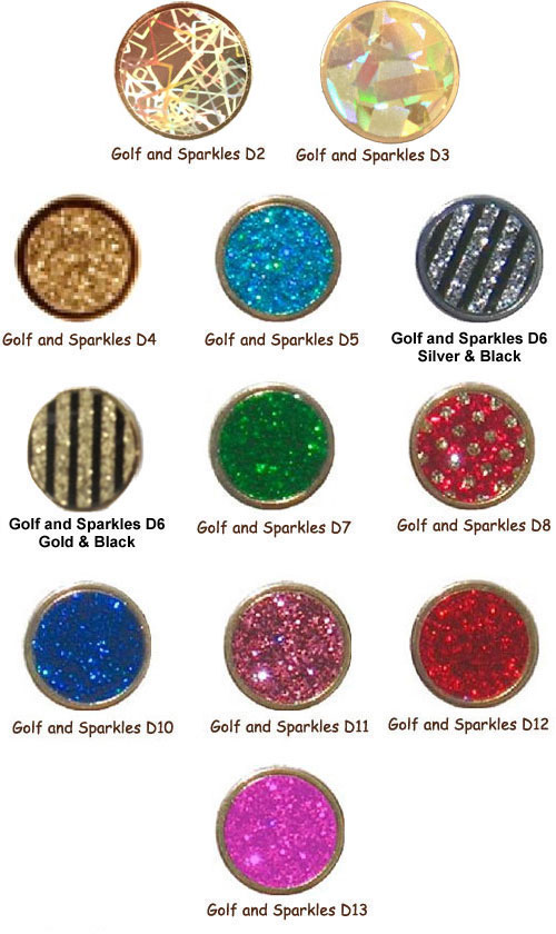 Make Your Mark Ladies Sparkle Art Ball Markers - Assorted Colors
