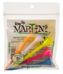 Martini - Golf Tees - Step Up Tees (Mixed Colors)
