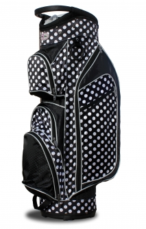 Taboo Fashions Ladies Monaco Premium Lightweight Golf Cart Bags - City Lights Polka Dot
