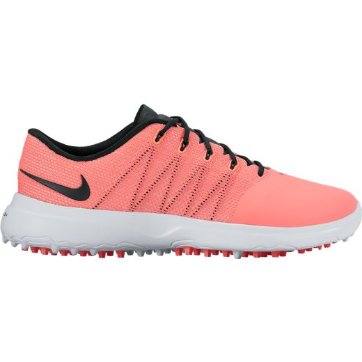 5cf38959df006 Lori s Golf Shoppe  CLEARANCE Nike Ladies Lunar Empress 2 Golf Shoes - Lava  Glow Black White (Medium Width)