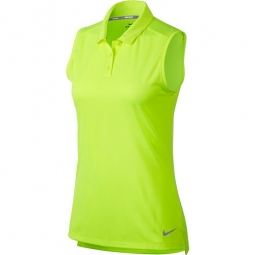 CLEARANCE Nike Ladies Dry Sleeveless Golf Polo Shirts - Volt